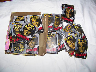 6 PACKS 1984 Topps Michael Jackson PHOTO Cards & Stickers Non sport WAX pop king