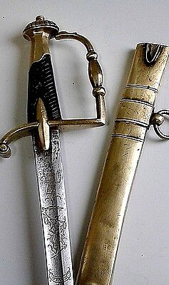 Napoleonic French  Chasseur Dragoon Officer's Sword War Of 1812 Waterloo Ca 1805