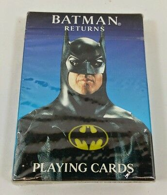 BATMAN RETURNS Playing Cards Brand New Factory Sealed DC Comics Michael Keaton