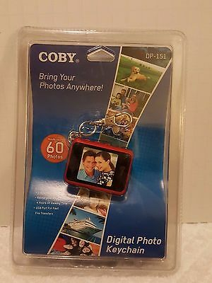 """Coby Digital Photo Keychain Dp-151 Holds 60 Photos -1.5"""" Color Display Red"""