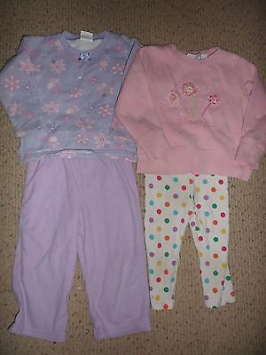 Girls Long Sleeve Sweatshirts, pant and capri play clothes lot Size 3T