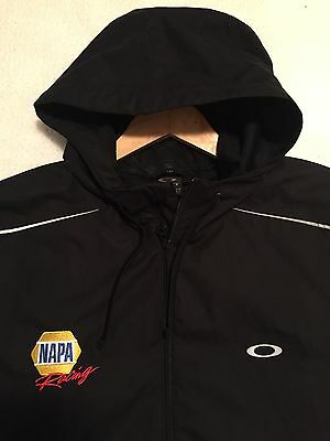 Large Oakley Hooded Jacket NAPA NHRA Don Schumacher Pit Crew Drag Racing