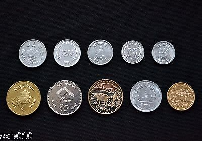 Nepal coins. 1 set of 10 coins UNC
