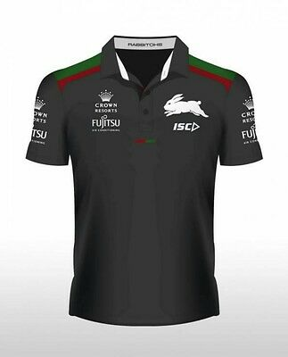 South Sydney Rabbitohs ISC  NRL Official Team Polo Shirt 2016 Size S Small