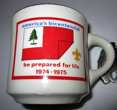 1974-1975 America's Bicentennial Be Prepared for Life Boy Scouts Coffee Cup Mug