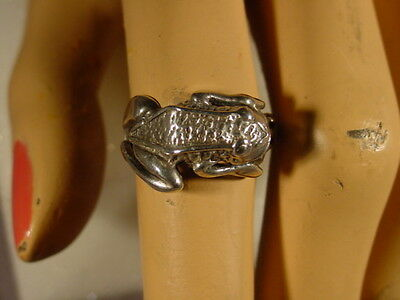 Leaping Frog Sterling Silver Vintage Ring