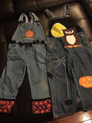 Guc Lot Of Unisex Halloween Overalls Size 5-6