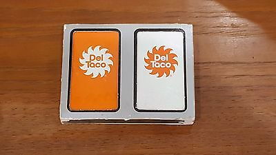 Vintage 1970's Del Taco Old Logo Playing Cards Fast Food - Dual NOS SEALED Decks