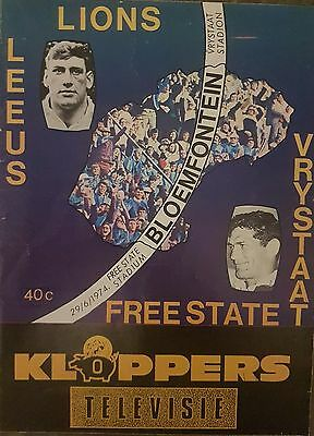 1974 British Lions V Freestate Rugby Union Programme