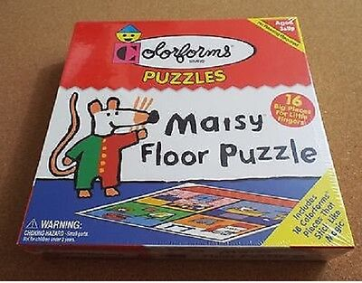 Colorforms Maisy Childrens Character Floor Puzzle 18 Stick-Ons Sealed NIB