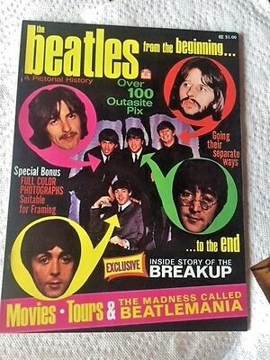 The Beatles  A Pictorial History From the Beginning  1970  POSTERS INCLUDED