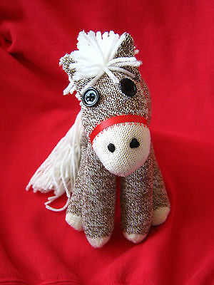 Rockford Red Heel  Sock Monkey Personalized Pony //  Horse!  Handcrafted