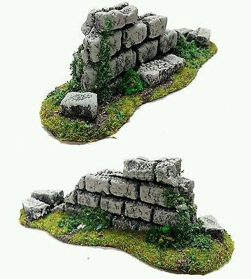 Wargames Terrain 28mm Resin Ruin Wall Piece - Frostgrave,  Age of Sigmar,  WH40k