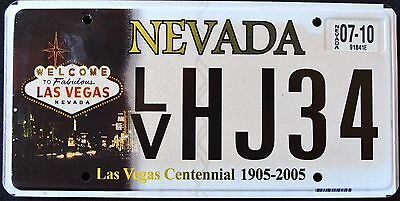 "NEVADA "" 100 YEARS LAS VEGAS - CENTENNIAL "" 2010 NV Graphic License Plate"