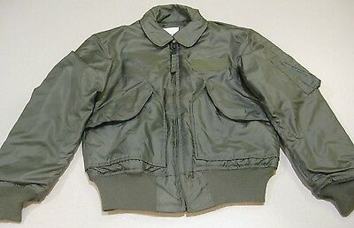 US Military AF Green Aramid Cold Weather Flyers Jacket 45/P Small S 34-36 NWOT
