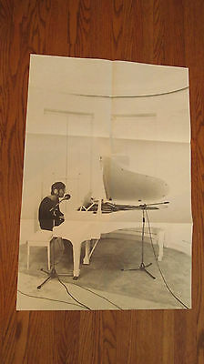 RARE vintage John Lennon poster photo by Peter Fordham The Beatles piano rock