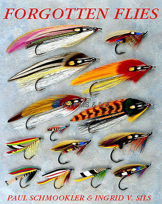 FORGOTTEN FLIES - NEW - SIGNED Schmookler & Sils fly tying fishing salmon trout