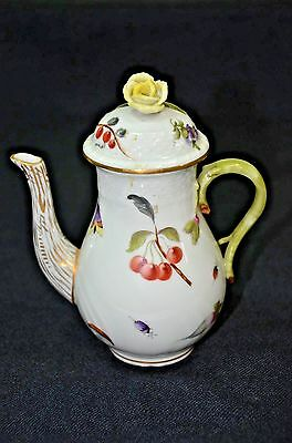 "Herend Hungary Rare Market Garden Pattern 6.5"" Coffee Tea Pot Insects Flowers"