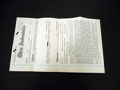 Original Deed to 62 Central Ave Albany NY 12/12/47 + (4) Red ($16.50) IRS Stamps