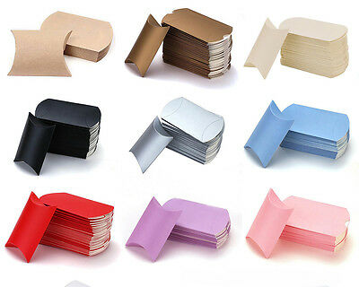 20/50pcs Wedding Favor Box Cute Kraft Paper Pillow Party Favour Gift Cake Candy