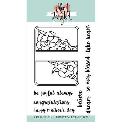 """Neat And Tangled Clear Stamp 4"""" X 6"""" Clear Stamp - Gardenia Blooms"""