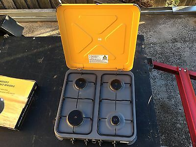 GASMATE 4 Burner Gas Camping Portable Stove CS4095 Excellent condition!