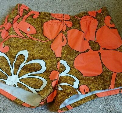 Vintage men's island casuals luau  swim trunks