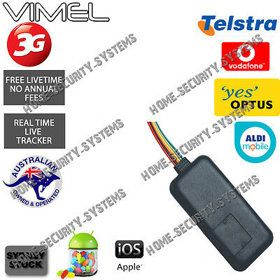 3G GPS Tracker Motorbike Car Yacht Hardwired Telstra Aldi Belong Optus Vodafone