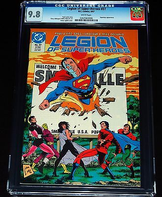 CGC 9.8 Legion Of Super-Heroes #37 DC Comic White Pages Superboy App