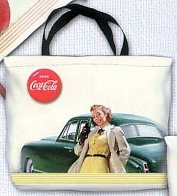 "COCA COLA  COKE GIRL HOLIDAY GIFT 12"" x 15"" TOTE BAG CLASSIC VINTAGE DESIGN NEW"