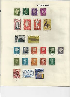 NETHERLANDS - SMALL COLLECTION OF USED STAMPS - #NED1ab - 2 SCANS