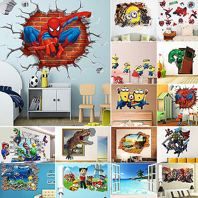 3D Removable Kids Children Bedroom Frame Home Room Wall Stickers Mural Decals
