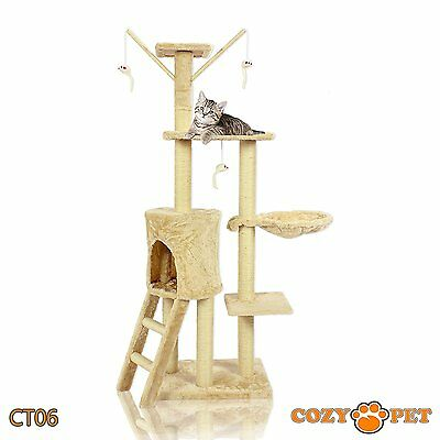 Cat Scratcher Tree Deluxe Multi Level Activity Centre Scratching Post Toys