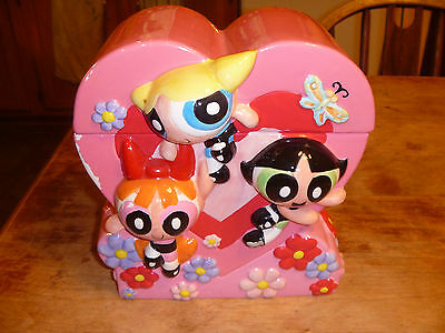 Warner Bros. POWERPUFF GIRLS PINK HEART Cartoon Network Cookie Jar