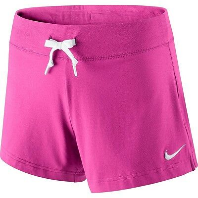 New Nike Women's Shorts Solid Jersey/soft cotton/gym/ holidays/sport shorts