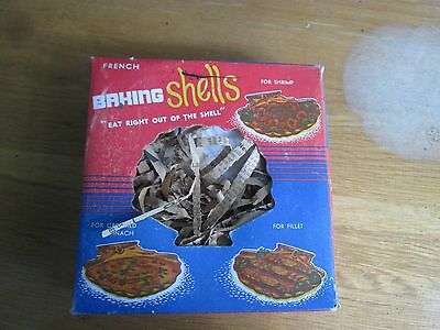 Never used '50s French  baking shells for escargot,shrimp,oysters-eat in shell!