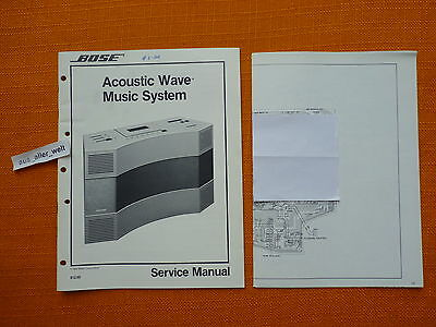 SERVICE MANUAL BOSE acoustic wave music system 1984 english Handbuch englisch