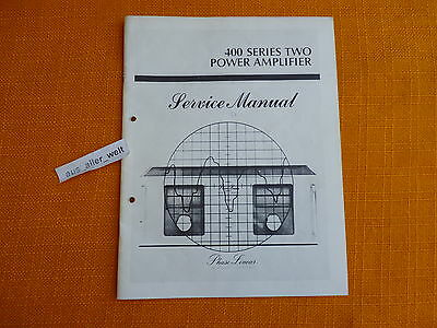 SERVICE MANUAL Phase Linear 400 series two 2 english Anleitung Schaltplan i0