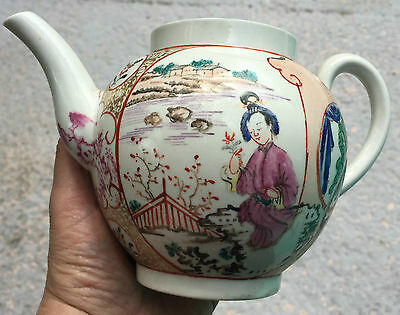 Early Worcester Tea Pot, Chinese Figures A/F 1765