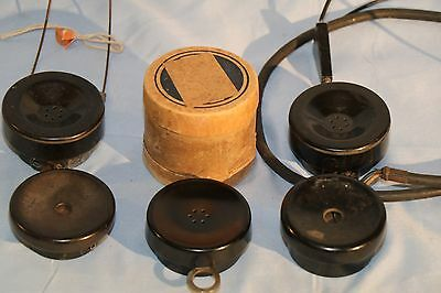 """Antique Watchcase Receivers And Head Phones-W.e.- """" 10.00 Off"""