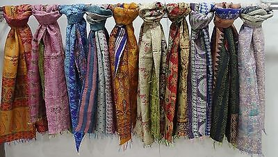 Wholesale Lot OF Silk Scarf Shawl Reversible Dupatta Assorted Color Neck Wrap