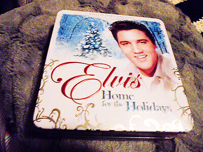 "Elvis Metallic Tin ""home For The Holidays"" Limited Edition...new, Still Sealed"
