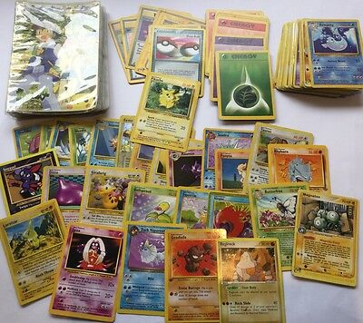 Vtg Lot Pokemon Collector Album + 90 Trading Cards inc 1999 Pikachu & others