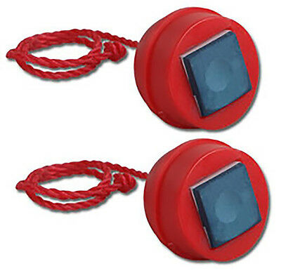 Pack Of 2 Cue Chalk Rubber Holders Red