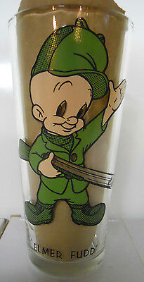 VINTAGE! 1973 Pepsi Collector Series Thick Glass-Elmer Fudd-Black Letters
