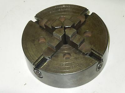"Skinner 5"" four-jaw lathe chuck, reversible jaws"