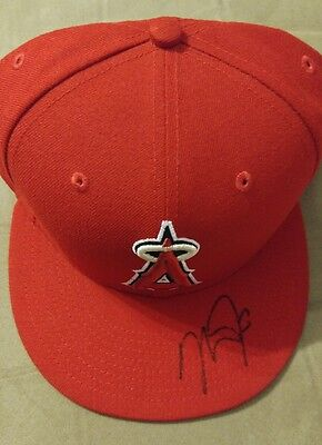 Mike Trout Signed Authentic On Field New Era Cap w/ JSA and full LOA