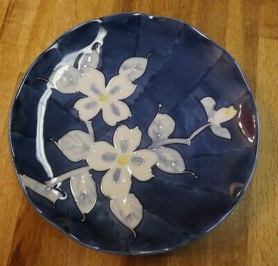 """Beautiful Japanese Plate - Exquisite Blue Pattern Approx. 9""""- Very Special Piece"""