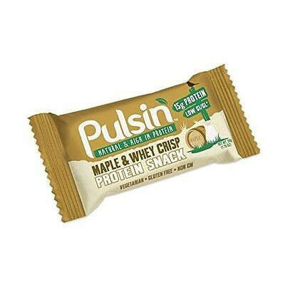 pulsin' Maple and Whey Crisp Protein Snack 50g. Free Shipping