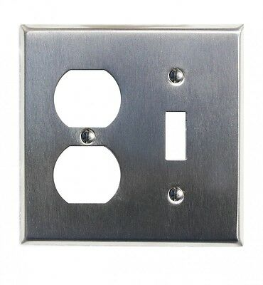 Switchplate Brushed Stainless Steel Toggle/Outlet | Renovators Supply